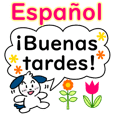 Spanish greeting set! Cute dog!