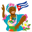 Happy- cuban friends stickers