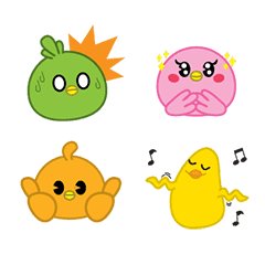 Colorful Chickens Emoji