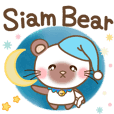 siamese bear everyday sticker english