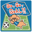Soccer cheering dog - toy poodle -