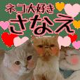 『ネコ写真』名前スタンプ【さなえ】