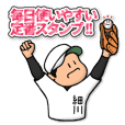 Baseball sticker for Hosokawa :FRANK