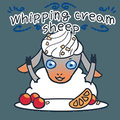 Whipping cream sheep(English)