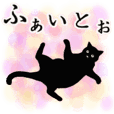 Simple black cats -cheering-