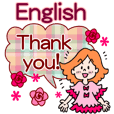 English stickers! Thank you Set!