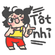 Vietnamese Cute girl sticker