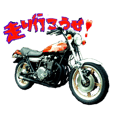 Rider's daily sticker