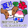 Let's use in summer! Papillon's sticker!