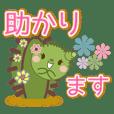 Qute cactus stickers