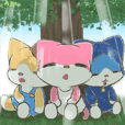 Three of them of the jewel cat