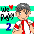 Very Cute Rugby Stickers!2