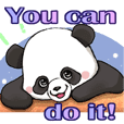 Panda's daily sticker. English version.