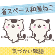 Japanese-style cats talk with honorific