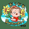 keiko's dairy Sticker summer version