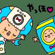 女の子と洗濯機 セットパック