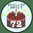37歳~72歳までの誕生日ケーキ