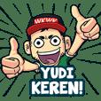 Yudi Bro Gaul Stiker Nama