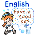 Summer Greeting Sticker! English!