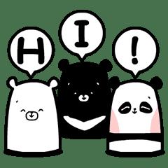 三隻熊動動貼