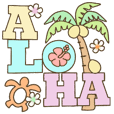 Hawaiian adult sticker9