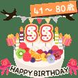 Happy birthday (Age cake 41-80)