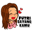 Putri the Beautiful Girl (Name Sticker)
