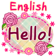 "English greeting set! ""Flower"""