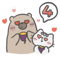 Mr. bear and his cutie cat 4 : Foodie