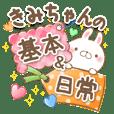 きみちゃんのほんわか基本&日常スタンプ
