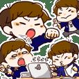 Hard worker Kawashima Sticker