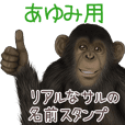 Ayumi Monkey's real name Sticker