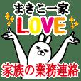 Sticker gift to makiko Funnyrabbitkazoku