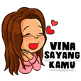 Vina the Beautiful Girl (Name Sticker)