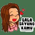 Lala si Gadis Cantik (Sticker Nama)