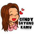 Cindy the Beautiful Girl (Name Sticker)