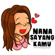 Nana the Beautiful Girl (Name Sticker)