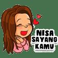 Nisa the Beautiful Girl (Name Sticker)