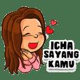 Icha si Gadis Cantik (Sticker Nama)