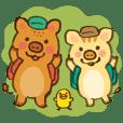 Honwaka-biyori boars
