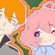 Tall-kun and Peach (satchet)
