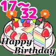 happybirthday cake 17-32 Move