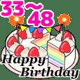 動く!光る! 33歳~48歳の誕生日ケーキ