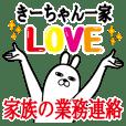 Sticker gift to kii Funnyrabbit kazoku