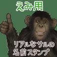 えみ への送信用 サルの名前スタンプ