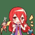 龍骨族の姫-帆音ちゃん-スタンプ