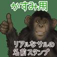 かすみ への送信用 サルの名前スタンプ