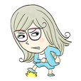 Ms.Hanako Line Sticker