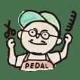 PEDAL sticker