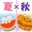 Summer and autumn sticker of Fuku.